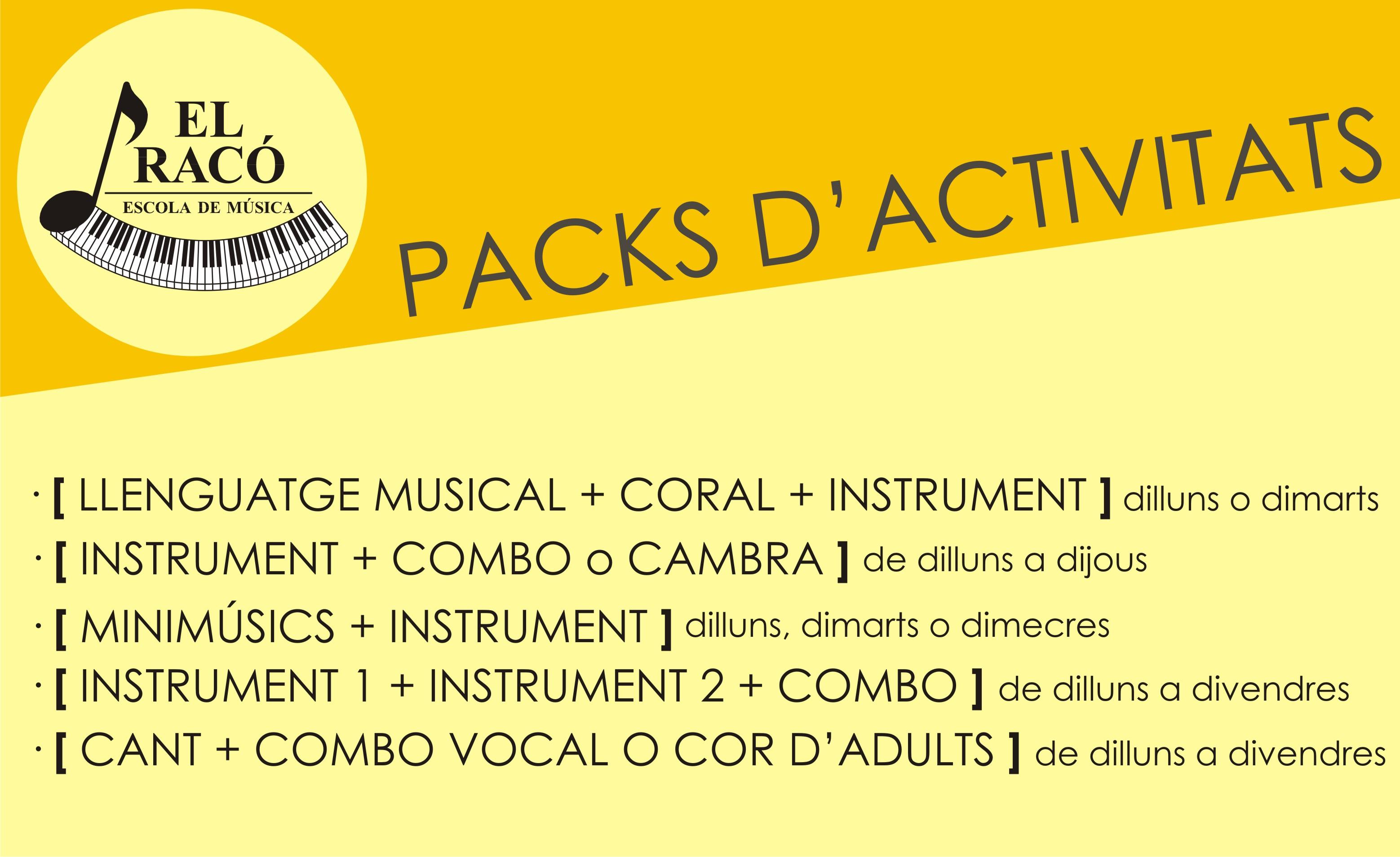 Packs d'activitats263